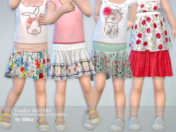 Sims 4 Toddler Skirt P03 by lillka at TSR