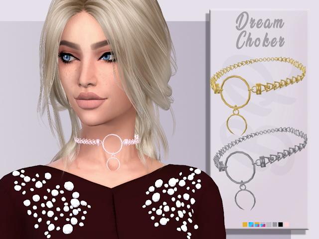 Sims 4 Dream Choker by Liseth Barquero at BlueRose Sims