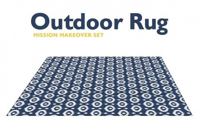 Outdoor Rug Mission Makeover Set at SimPlistic image 164 p1 670x411 Sims 4 Updates