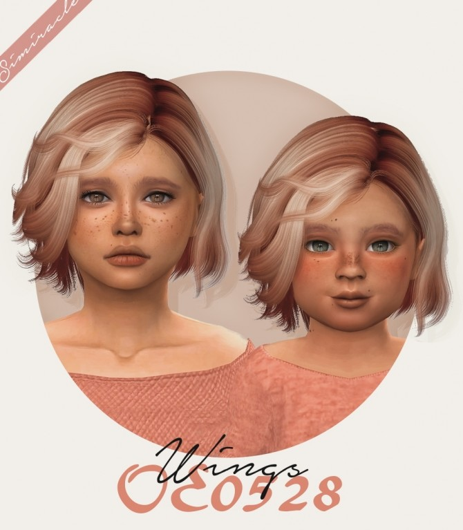 Sims 4 Wings OE0528 hair for kids and toddlers at Simiracle