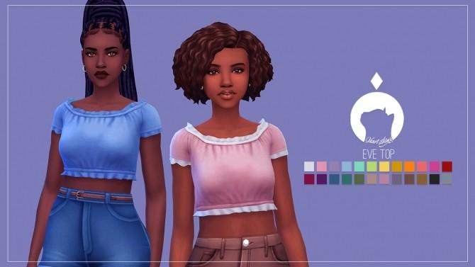 Sims 4 Eve Top at Ikari Sims