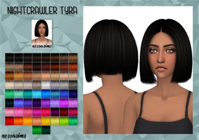 Sims 4 Nightcrawler Tyra Hair Retexture at Nessa Sims