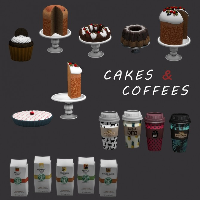 Sims 4 Cakes & Coffees (P) at Leo Sims
