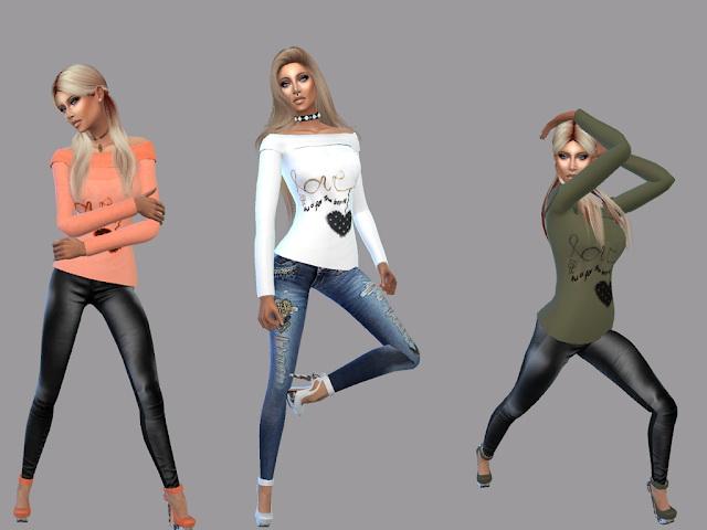 Love Shirt at Teenageeaglerunner image 1682 Sims 4 Updates