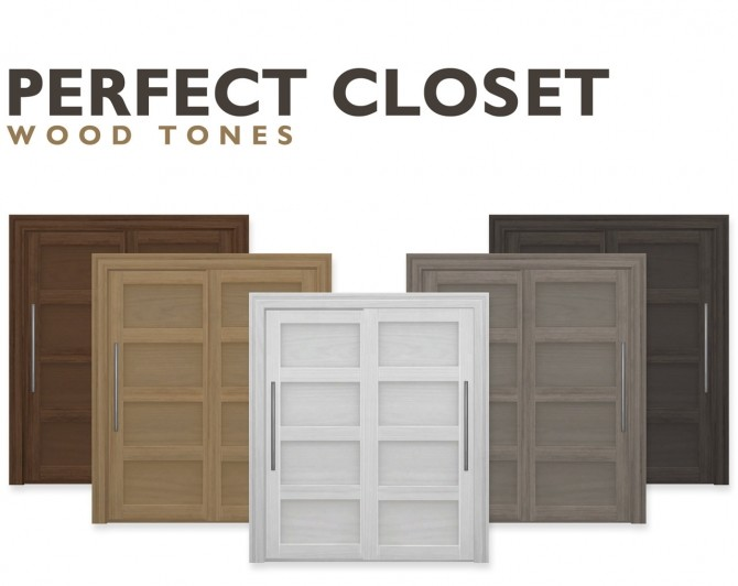 Sims 4 Perfect Closet Wood Tones at SimPlistic