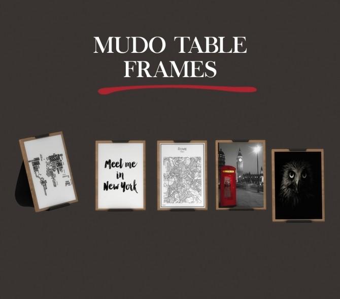 Sims 4 Mudo Table Frames at Leo Sims