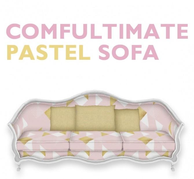 Comfultimate Pastel Sofa at SimPlistic image 1704 670x620 Sims 4 Updates