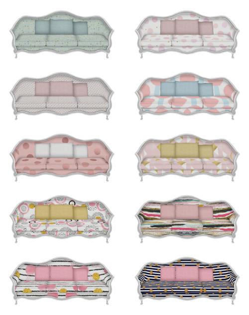 Comfultimate Pastel Sofa at SimPlistic image 17111 Sims 4 Updates