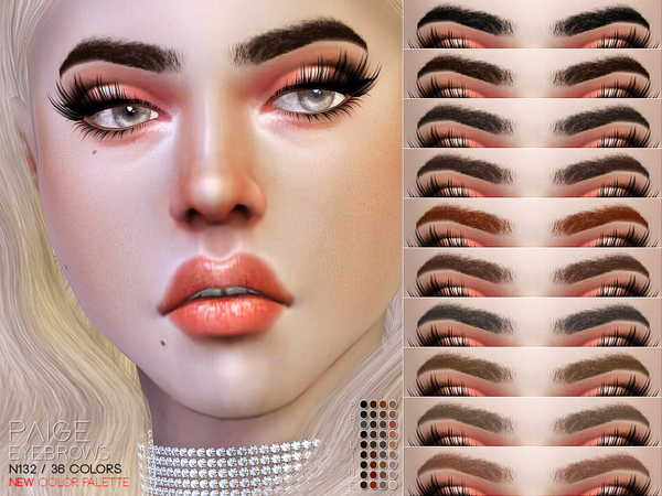 Paige Eyebrows N132 by Pralinesims at TSR image 1714 Sims 4 Updates