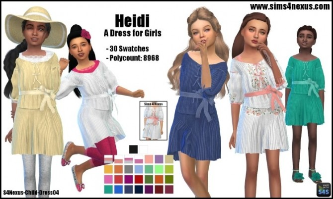 Sims 4 Heidi dress by SamanthaGump at Sims 4 Nexus
