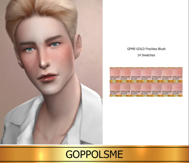 Sims 4 GPME GOLD Freckles Blush (P) at GOPPOLS Me