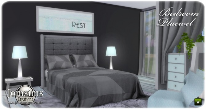 Placwel bedroom at Jomsims Creations image 1767 670x355 Sims 4 Updates