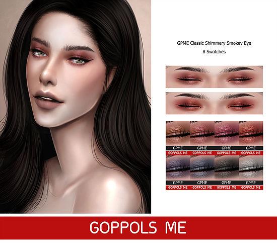 GPME Classic Shimmery Smokey Eye at GOPPOLS Me image 1771 Sims 4 Updates