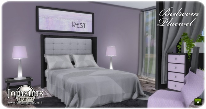 Placwel bedroom at Jomsims Creations image 1776 670x355 Sims 4 Updates