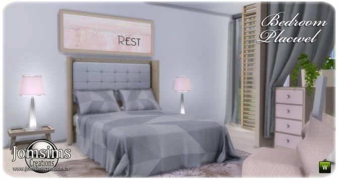 Placwel bedroom at Jomsims Creations image 1785 670x355 Sims 4 Updates