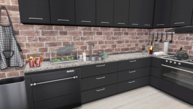 Sims 4 KITCHEN Townhouse at MODELSIMS4