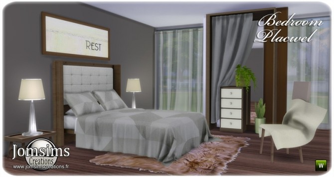 Placwel bedroom at Jomsims Creations image 18112 670x355 Sims 4 Updates