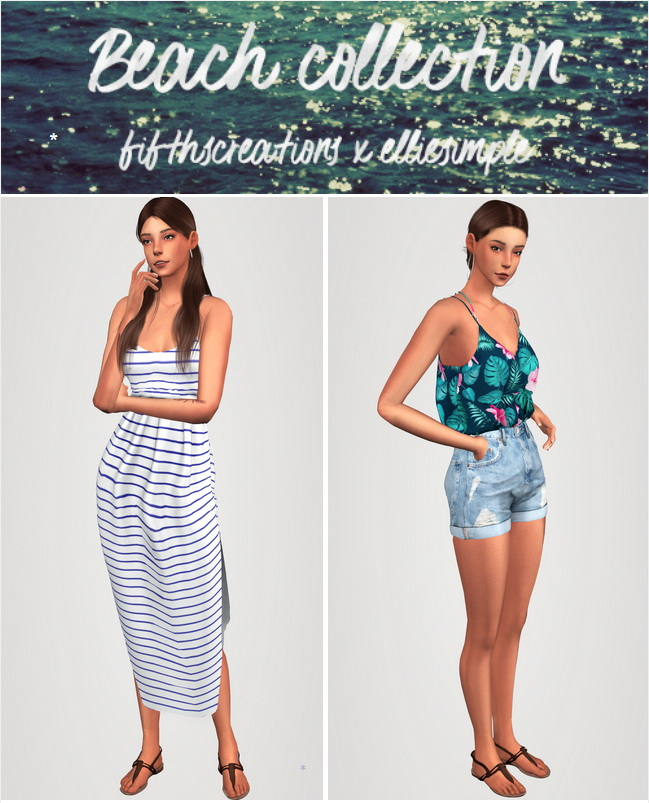 Sims 4 Beach Collection Part 1 at Elliesimple