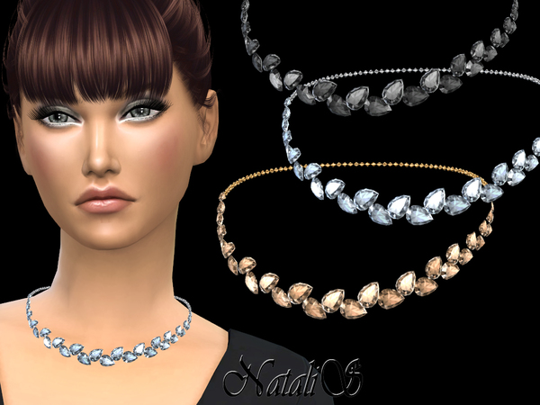 Pear cut crystals necklace by NataliS at TSR image 1824 Sims 4 Updates