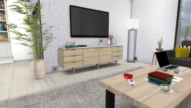 Sims 4 LIVINGROOM Townhouse at MODELSIMS4