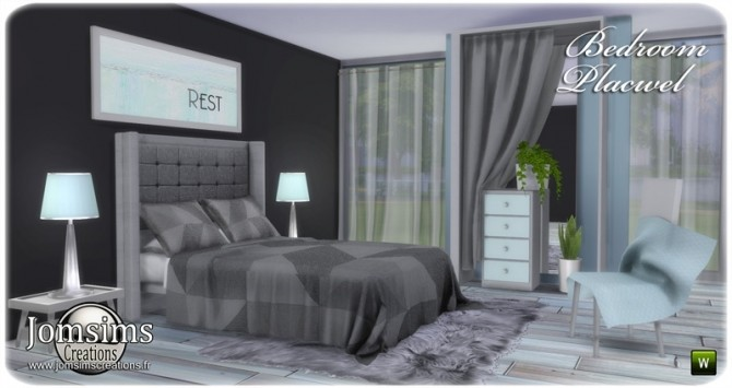 Placwel bedroom at Jomsims Creations image 1839 670x355 Sims 4 Updates