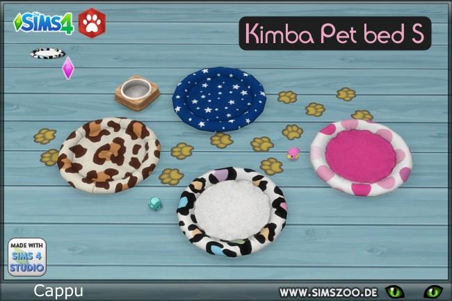 Sims 4 Kimba Pet bed S by Cappu at Blacky's Sims Zoo