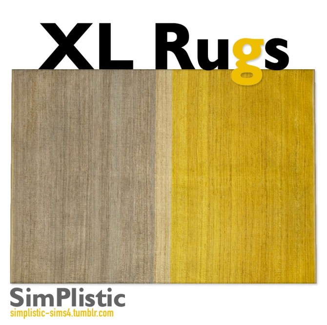 Sims 4 Lots and Lots of Extra Large Rugs at SimPlistic