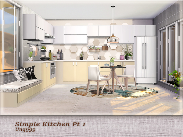 Sims 4 Simple Kitchen Pt.1 by ung999 at TSR