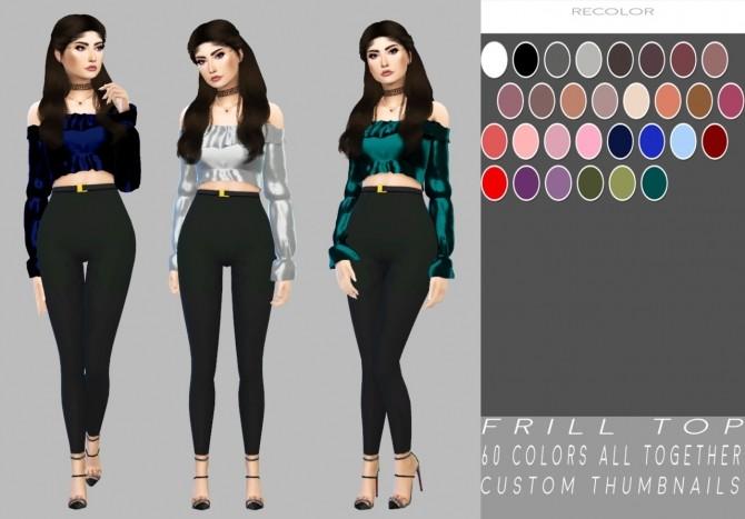 Frill Top Normal + Satin at Simply Simming image 1911 670x467 Sims 4 Updates