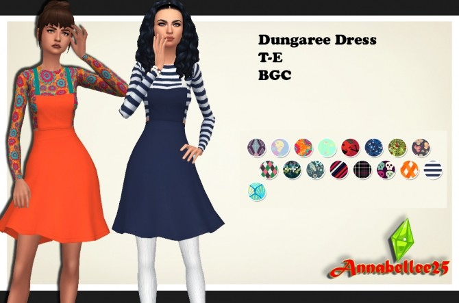 Dungaree Dress by Annabellee25 at SimsWorkshop image 1917 670x443 Sims 4 Updates