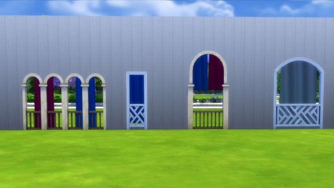 Sims 4 Animated Breezy Curtains for Arches and Open Windows by Snowhaze at Mod The Sims