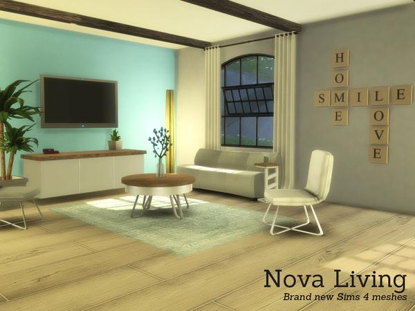 Sims 4 Nova Living by Angela at TSR