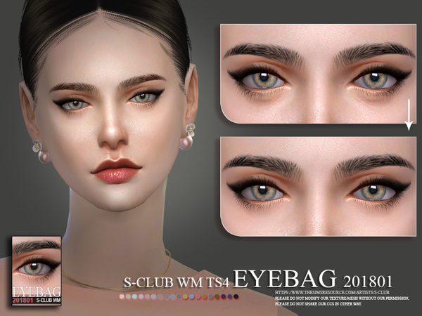 Eyebag 201801 by S Club WM at TSR image 196 Sims 4 Updates