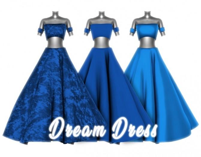 Sims 4 Dream Dress by Liseth Barquero at BlueRose Sims