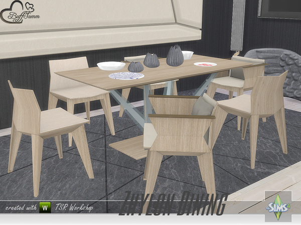 Zhylon Dining Recolors by BuffSumm at TSR image 2022 Sims 4 Updates