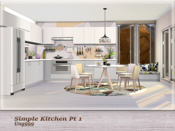 Simple Kitchen Pt.1 by ung999 at TSR image 206 Sims 4 Updates