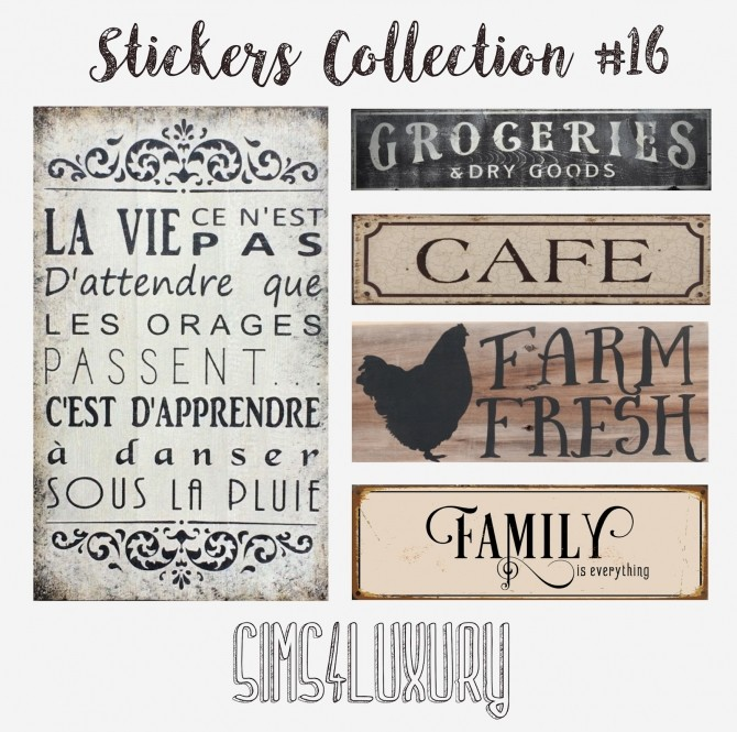 Stickers Collection #16 at Sims4 Luxury image 2061 670x665 Sims 4 Updates