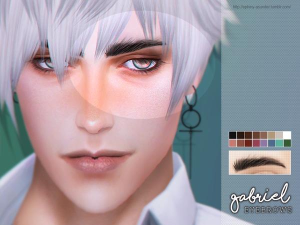 Sims 4 Gabriel Eyebrows by Screaming Mustard at TSR