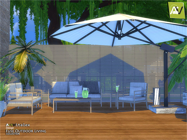 Fuse Outdoor Living by ArtVitalex at TSR image 208 Sims 4 Updates