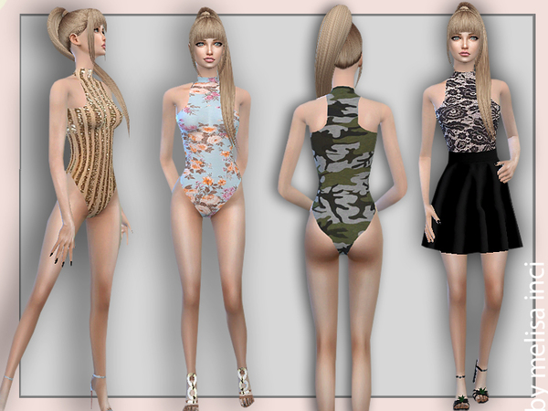 Sweet Floral Bodysuit by melisa inci at TSR image 2102 Sims 4 Updates