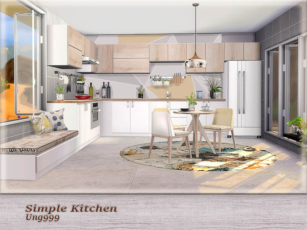 Simple Kitchen Pt.1 by ung999 at TSR image 2110 Sims 4 Updates