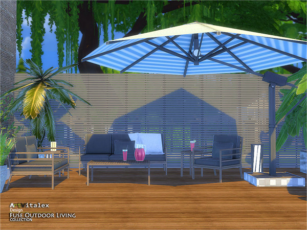 Fuse Outdoor Living by ArtVitalex at TSR image 2112 Sims 4 Updates