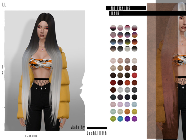 No Frauds Hair by Leah Lillith at TSR image 2114 Sims 4 Updates