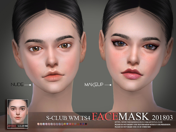 Facemask 201803 by S Club WM at TSR image 2122 Sims 4 Updates
