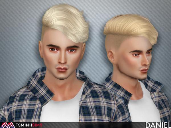 Sims 4 Daniel Hair 60 by TsminhSims at TSR