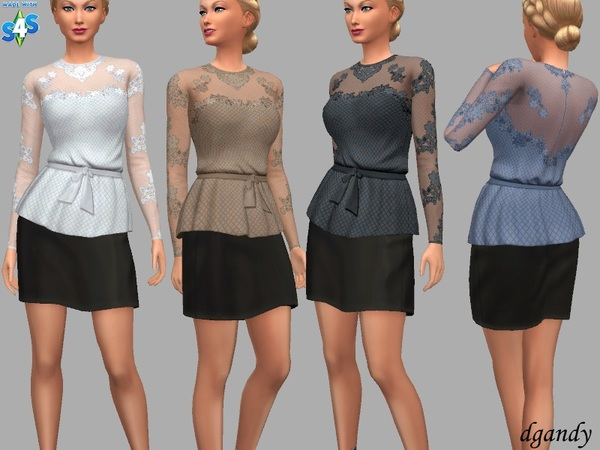 Mollie top by dgandy at TSR image 2127 Sims 4 Updates