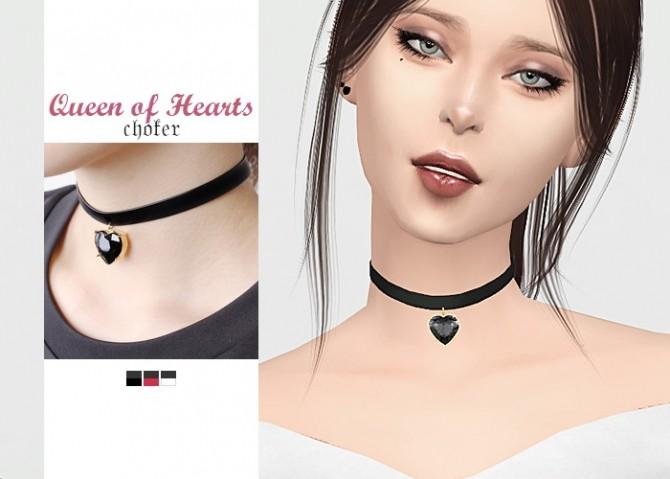 Sims 4 Queen of Hearts Choker at Waekey