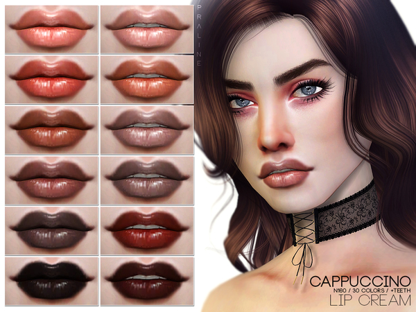 Cappuccino Lip Cream N160 by Pralinesims at TSR image 215 Sims 4 Updates