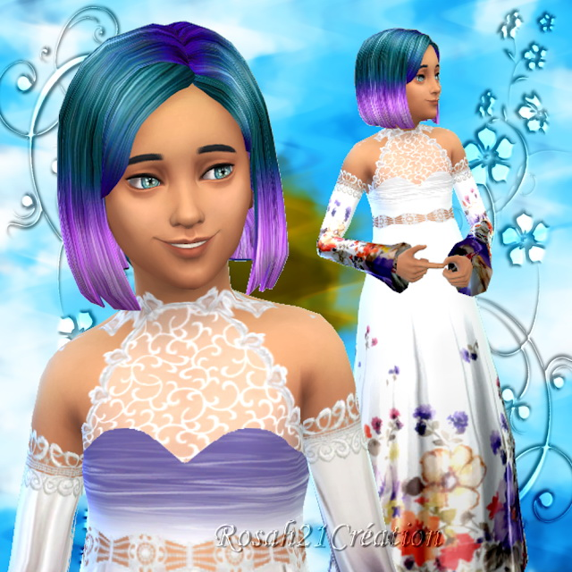 Long dress for girls at Sims Dentelle image 2151 Sims 4 Updates