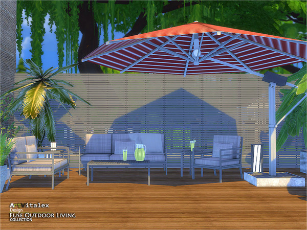 Fuse Outdoor Living by ArtVitalex at TSR image 2210 Sims 4 Updates